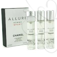 Chanel Allure Homme Sport  3x20ml edt Wkłady