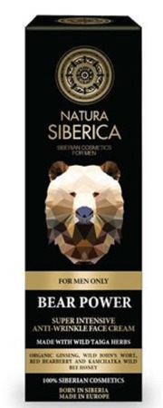 SIBERICA PROFESSIONAL Men Bear Power Super Intensive Anti-Wrinkle Face Cream 50ml